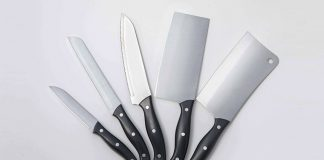 stainless steel kitchen knife made from 3Cr13 steel